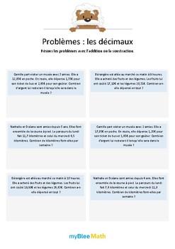 Les décimaux 4 - Additions et soustractions de décimaux -CM2