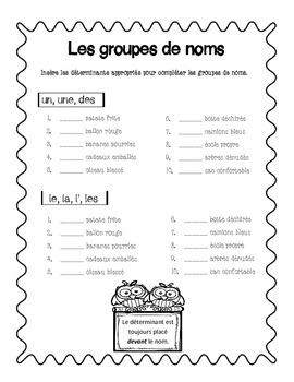 Les groupes de noms