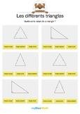 Les différents triangles 1 -Quel est le nom de ce triangle ?