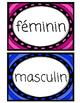 Les déterminants masculins et féminins
