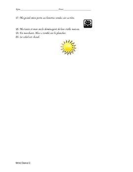 Les éléments de la phrase-Sentence structure (French)