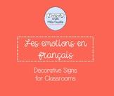 Les émotions - Classroom Decor/Manipulative