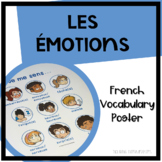 "Les Émotions - French Vocabulary Poster - ""Je me sens...."""