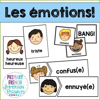 Les 233 Motions French Emotions Flashcards And Games Tpt
