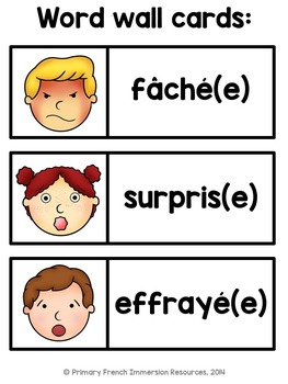Les émotions - French emotions - flashcards and games