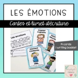 Les émotions -  French writing booklet and feelings vocabu