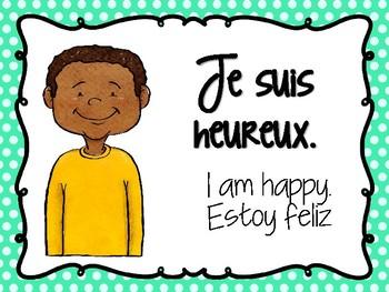 Les émotions Affiches de vocabulaire français