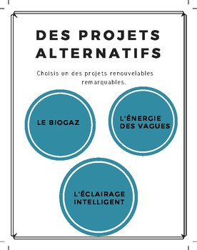 Inquiry-based project: Les énergies renouvelables