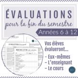 Les évaluations de la fin du semestre / French End of Term Evaluations