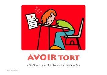 Les expressions avec AVOIR + illustration et exemple (19 verbes)