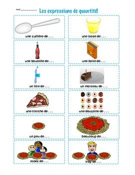 Les expressions de quantité: La nourriture