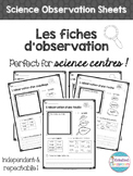 Les fiches d'observation - Science Center Observation Sheets
