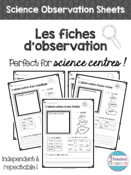 Les fiches d'observation - Science Center Observation Sheets