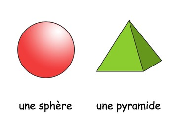 Les figures à 3D - 3D Shapes Flashcards