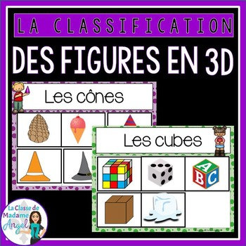Les figures géométriques - 3D Solid Sorting Center in French