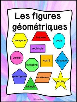 Les figures géométriques - Affiches - French shapes - Thème: lamas et cactus