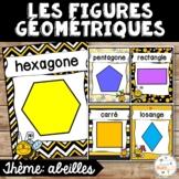 Les figures géométriques - Affiches - French shapes posters - Thème: abeilles