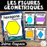 Les figures géométriques - Affiches - French shapes posters - Thème: espace