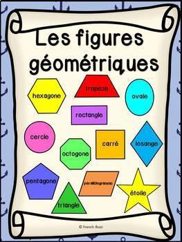 Les figures géométriques - Affiches - French shapes posters - Thème: pirates