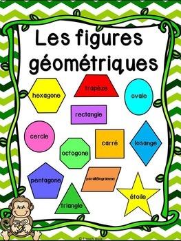 Les figures géométriques - Affiches - French shapes posters - Thème: singes