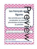 Les figures, les formes 2D, la consience phonémique et pho