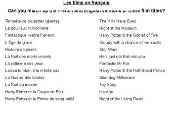 Les films / Le cinema / Les films francais / Movies / French movies