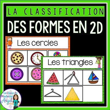 Les formes géométriques - 2D Shape Sorting Center in French