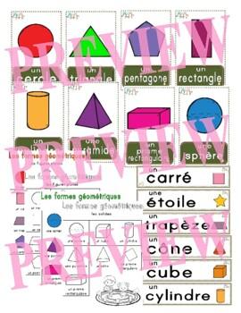 Les formes géométriques - French 2D and 3D shape cards and posters - 2 sizes