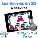 Les formes géométriques en 2D: French 2D Shapes Digital Task Cards - BOOM CARDS