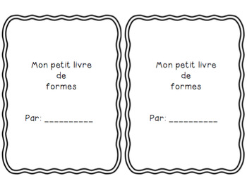 Les formes simples/simple shapes *MINI BOOK*