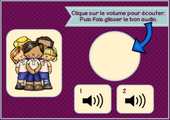 Les fournitures scolaires ~ French School Object BOOM w Audio Distance Learning