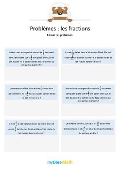 Les fractions 1 - Additions de fractions avec dénominateurs identiques -6e