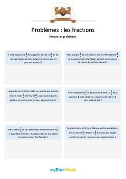 Les fractions 5 - Additions de fractions avec dénominateur