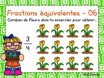 Les fractions équivalentes - 3e année