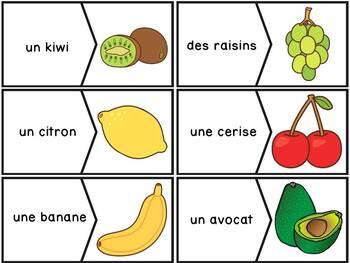 Les fruits et légumes - 55 puzzles - French fruits and vegetables