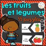 Les fruits et légumes - 55 puzzles - French fruits and vegetables