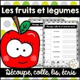 Les fruits et légumes - Découpe et colle - French fruits and vegetables