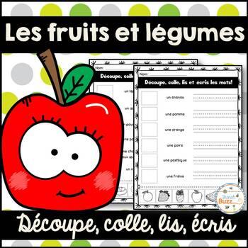 Les fruits et légumes - Découpe et colle - French fruits a