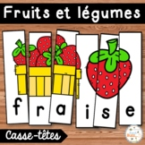 Les fruits et légumes - French fruits and vegetables - 26 puzzles