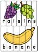 Les fruits et légumes - French fruits and vegetables - 26 puzzles