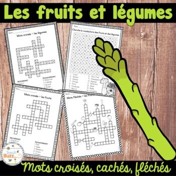 Les fruits et légumes - Mots croisés, cachés, fléchés