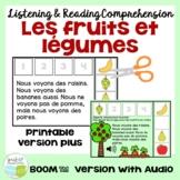 Les fruits et légumes séquence | Compréhension orale français & Boom Cards Audio