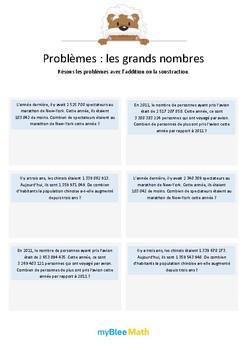 Les grands nombres 4 - Soustractions de grands nombres