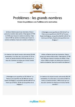 Les grands nombres 6 - Additions et soustractions de grands nombres