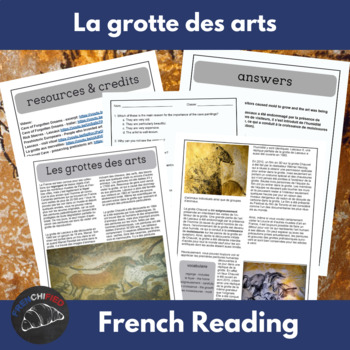 Les grottes des arts - a reading for intermediate/advanced French students