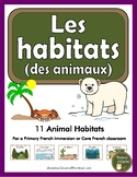 Les habitats des animaux (French animal habitat flashcards)