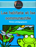 Module sur les habitats et les communautés (French Habitats/Communities Unit)