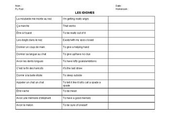 Les idiomes françaises