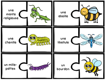 Les insectes et les bestioles - 25 puzzles (casse-tête) - Insects and bugs
