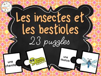 Les insectes et les bestioles - 25 puzzles (casse-tête) -